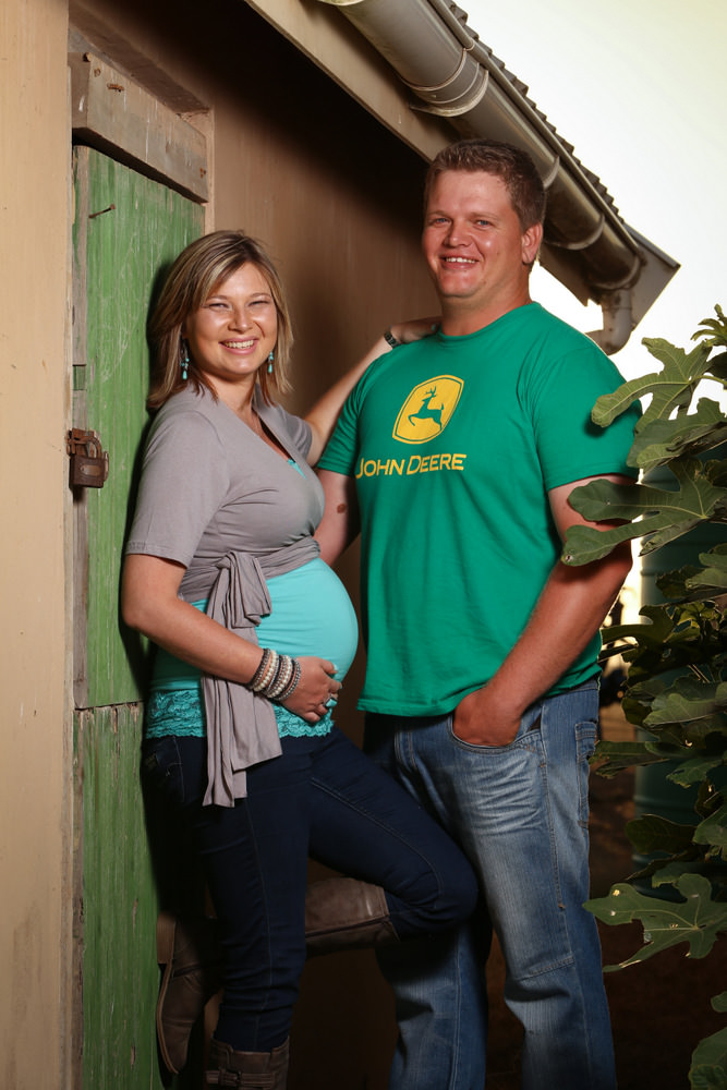 Maternity shoot on the farm with sheep, Garden Route